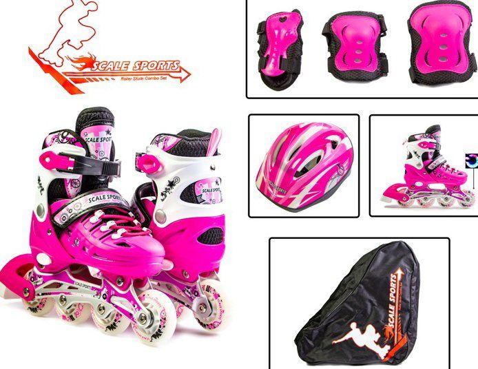 6c173ec555d28e Комплект дитячих Розсувних Роликів Scale Sport - Рожевий 29-33 р (rs111)