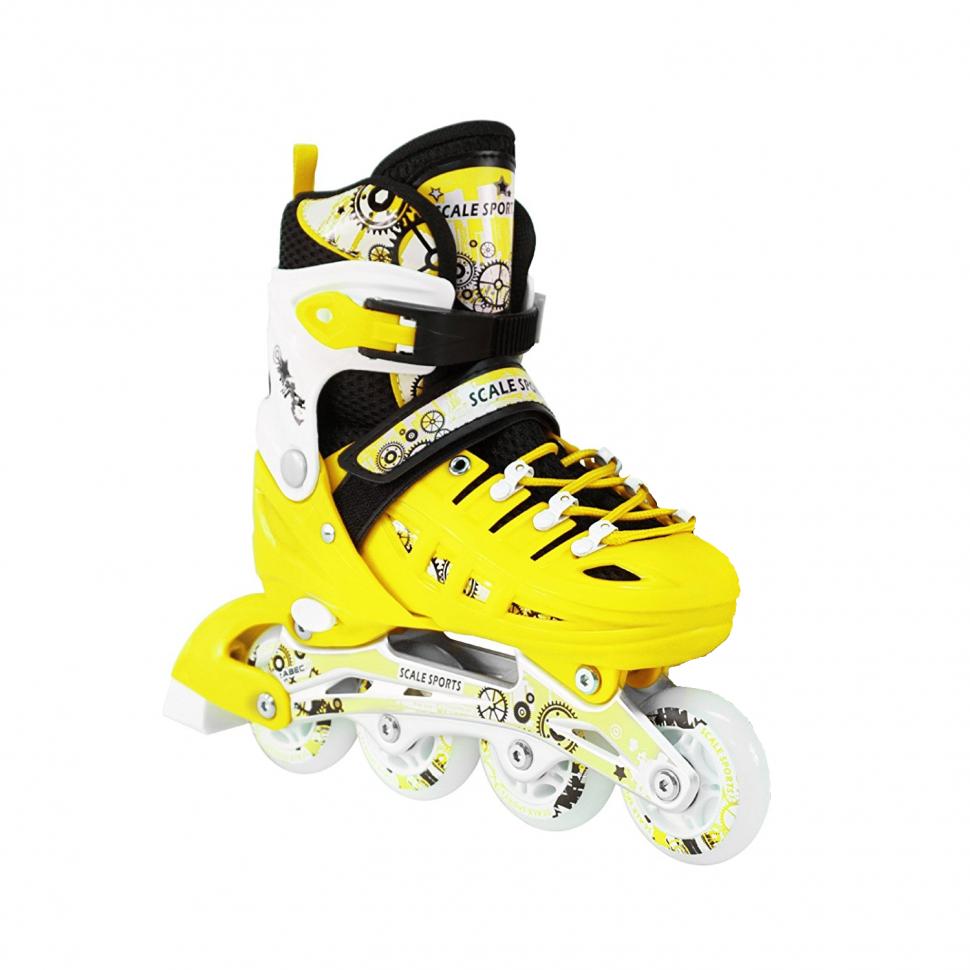 27dcc9375bf853 Розсувні роликові ковзани Scale Sport - Жовті 31-34 р. (rls12-1