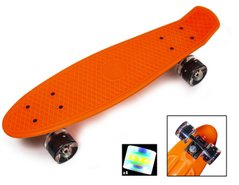 "Zippy Board penny 22"" Orange - Помаранчевий 54см Світяться колеса пенни борд (ZL5)"