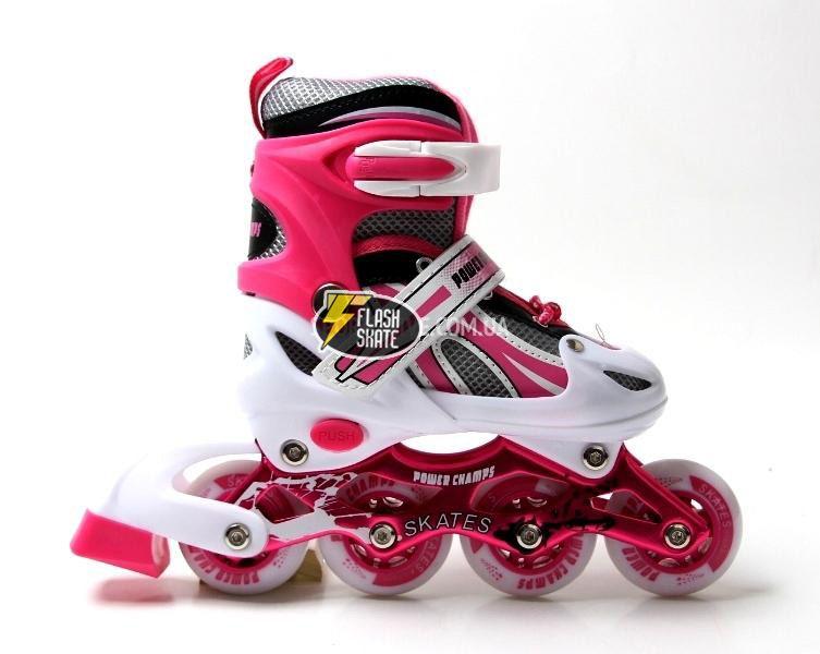 270b22caabc925 Дитячі розсувні ролики - Power Champs - Рожеві 30-33 р.