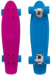 "Fish Skateboards Pink/Blue 22.5"" - Розово/Синий 57 см Twin пенни борд (FSTT4)"