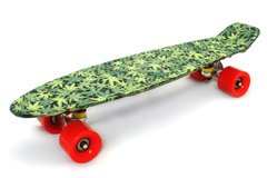 "Пенни борд Fish Skateboards Print 22.5"" - Листья 57 см (FP711)"