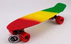 "Fish Skateboards Fades Rasta 22,5"" - 57 см Soft-Touch пенни борд (FSTM10)"